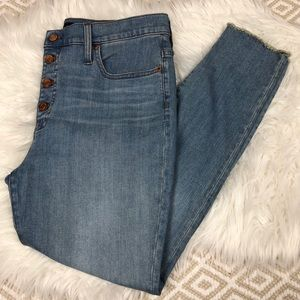 J. Crew Eco High-Rise Toothpick Jean in Light Wash
